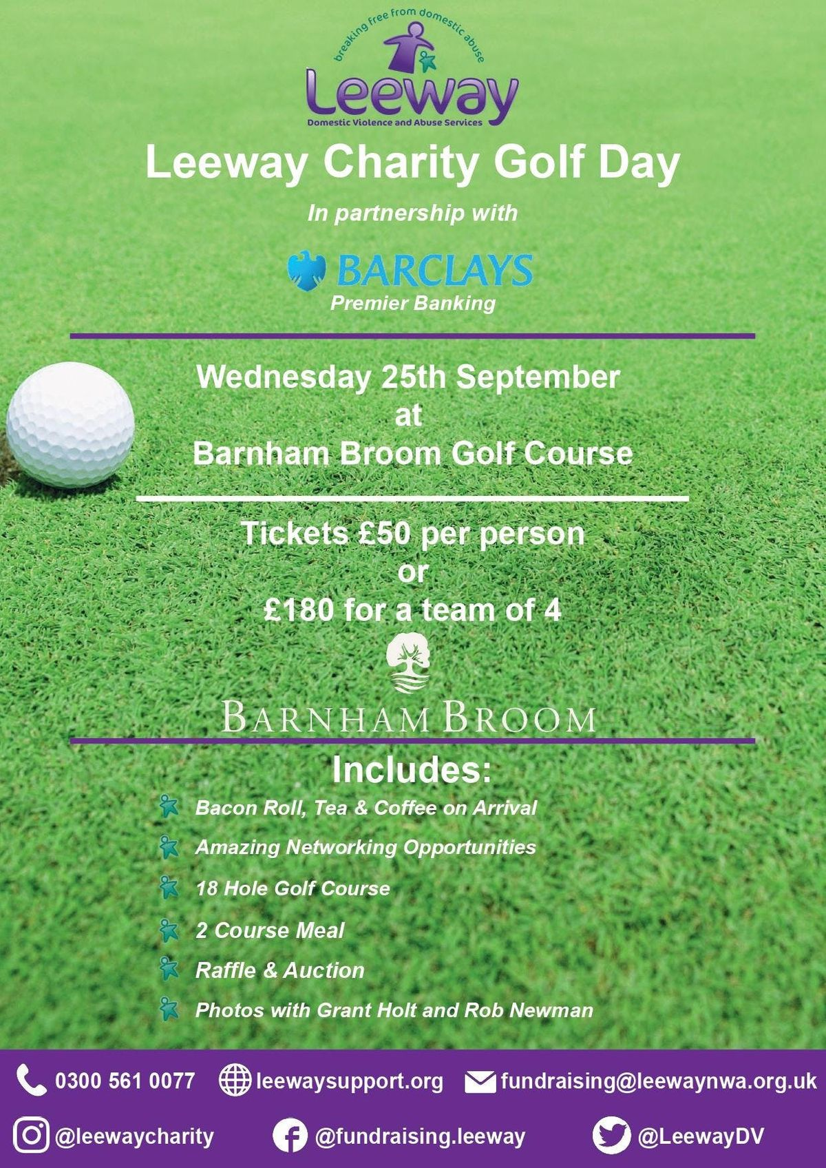 Leeway Golf Day in partnership with Barclays Premier Banking