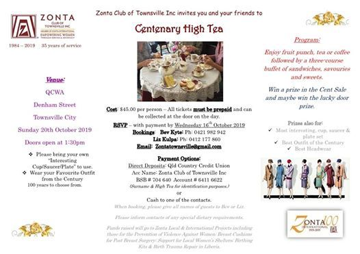 Centenary High Tea