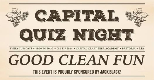 Capital Craft Quiz Night, 26 January | Event in Menlo Park | AllEvents.in