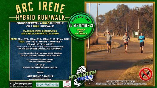 ARC Irene HYBRID Run/Walk   Event in Rabie Ridge   AllEvents.in