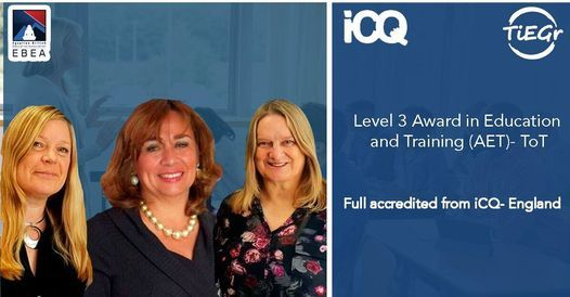 Award in Edu and Training fully accredited from England -ToT, 4 February | Online Event | AllEvents.in