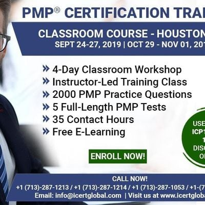 PMP Certification Training Course in Houston TX USA 4-Day PMP Boot Camp with PMI Membership and PMP Exam Fees Included.