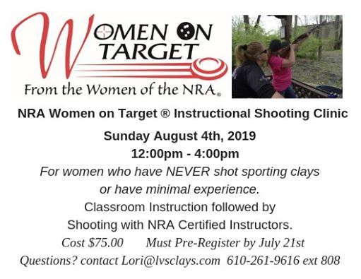 NRA Women on Target Instructional Clinic at Lehigh Valley
