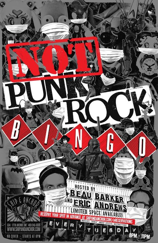 NOT Punk Rock Bingo at The Ship, 6 July | Event in Okotoks | AllEvents.in