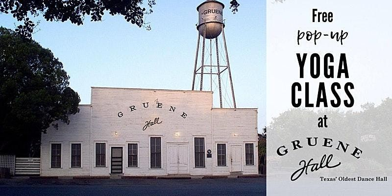 International Day of Yoga! Free Pop-up Class at Gruene Hall, 21 June | Event in New Braunfels | AllEvents.in
