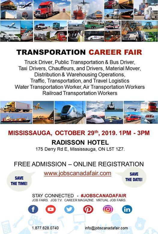 Mississauga Transportation JOB FAIR at Radisson Toronto