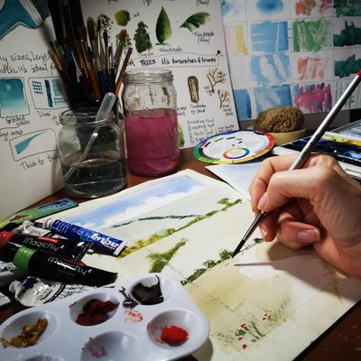 Painting with Watercolours & Gouache - a Beginners Course
