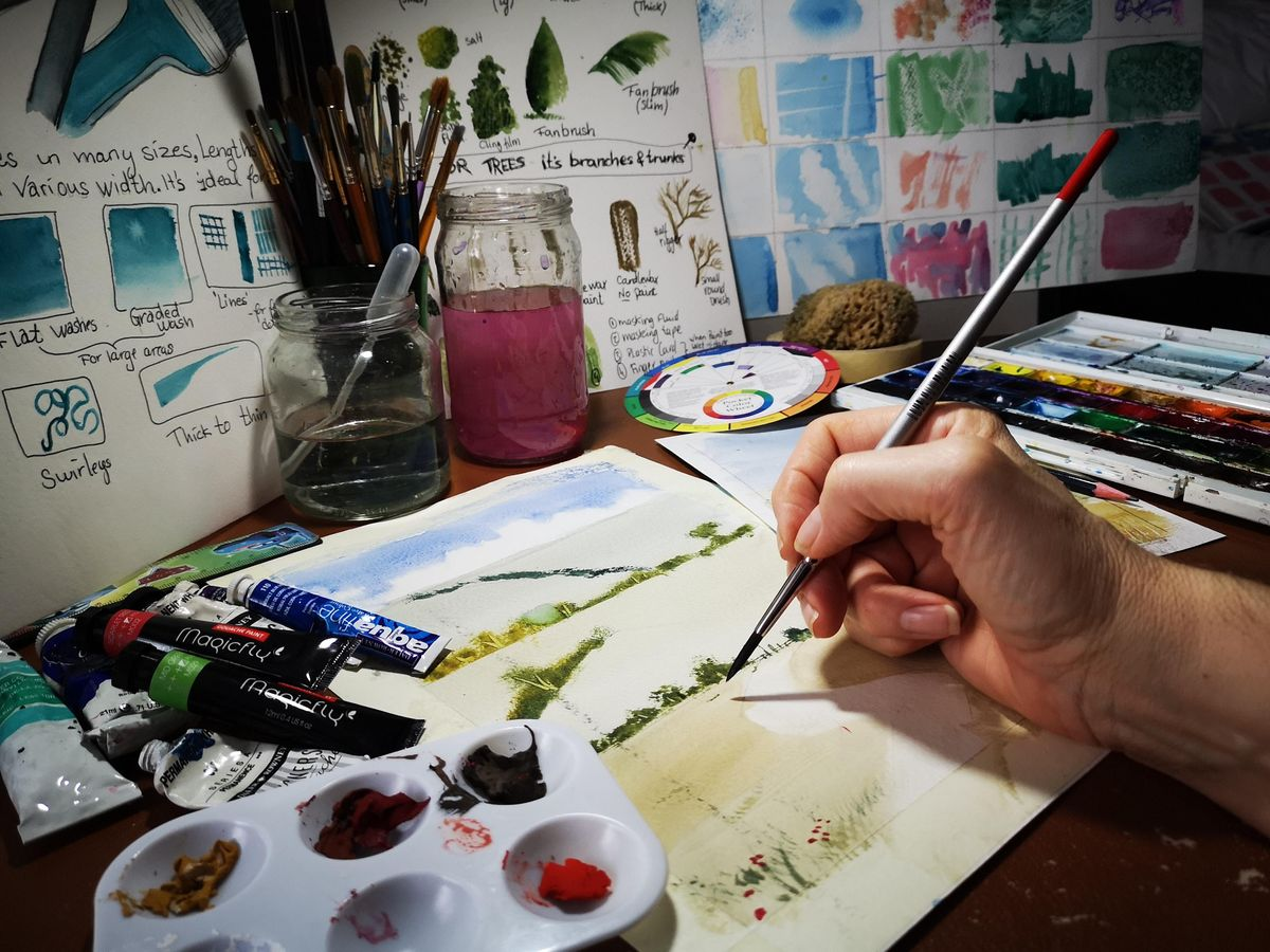 Painting with Watercolours & Gouache - a Beginners Course, 30 January | Event in Woking | AllEvents.in
