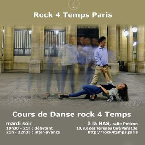 Cours hebdomadaire Danse rock 4 Temps  Dbutant & Inter-avanc
