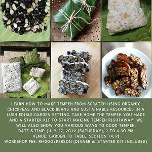Sustainable tempeh making workshop