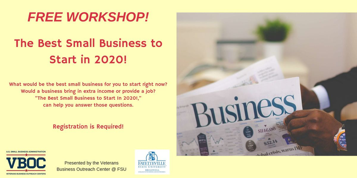Best Business To Start 2020 The Best Small Business to Start In 2020! at Fayetteville State