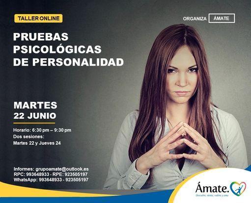Taller Online: Pruebas Psicológicas de Personalidad   Event in Lima   AllEvents.in
