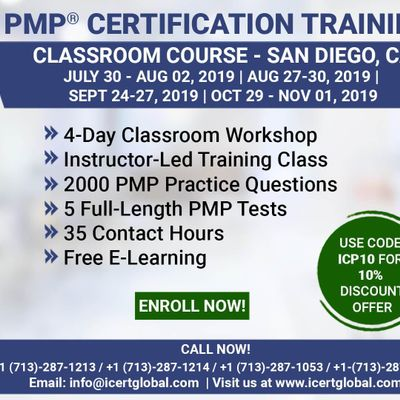 PMP (Project Management) Certification Training in San Diego CA USA  4-Day (PMP) Boot Camp