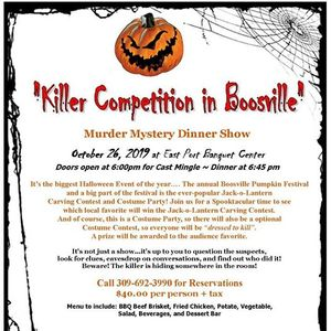 Killer Competition in Boosville - Mder Mystery Dinner