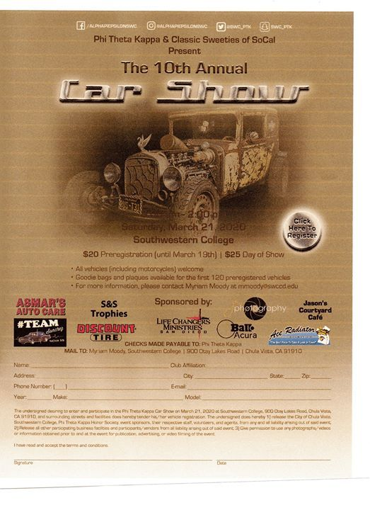 10th Annual Phi Theta Kappa Car Show