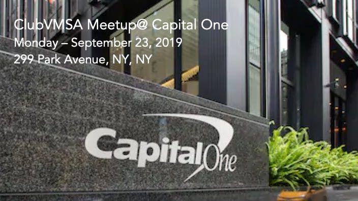 ClubVMSA Meetup @ Capital One | New York