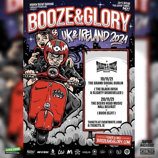 Booze & Glory at The Grand Social 19/11/21 tickets on sale*, 19 November | Event in Dublin | AllEvents.in
