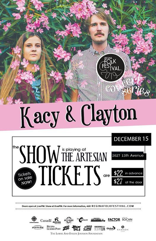 Regina Folk Festival presents Kacy & Clayton with Ellen Froese