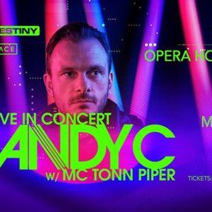 ANDY C w MC Tonn Piper - Saturday November 27th