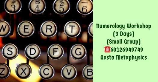 Numerology Workshop (Petaling Jaya), 23 October | Event in Petaling Jaya | AllEvents.in