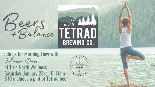 Beers & Balance: Yoga at Tetrad Brewing Co., 23 January | Event in Greenville | AllEvents.in