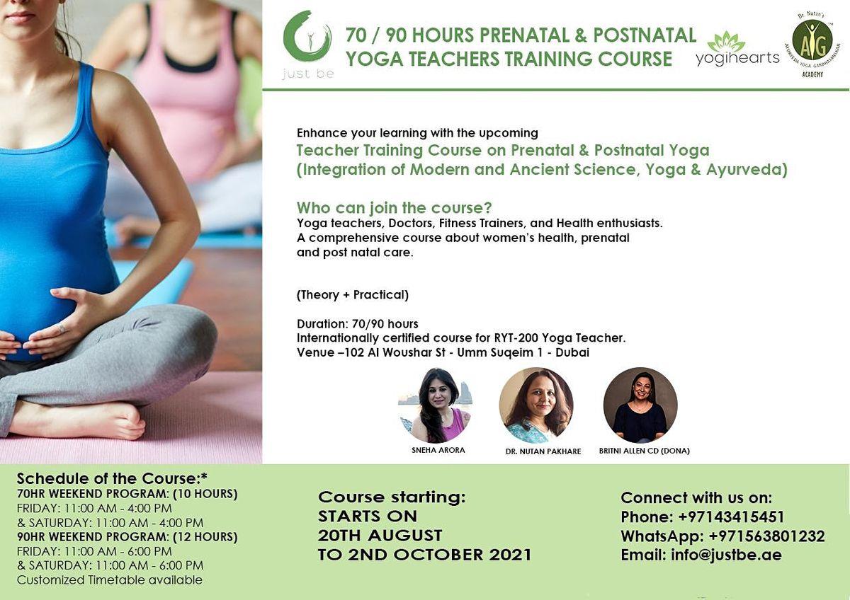 70 / 90 HOURS PRENATAL  YOGA TEACHER TRAINING COURSE   Event in Dubai   AllEvents.in