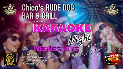 Wednesday Karaoke Nights at Chicos Rude Dog Bar & Grill Polaris