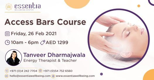 Access Bars Class with Tanveer Dharmajwala   Event in Dubai   AllEvents.in