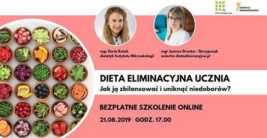 Webinar Dieta Eliminacyjna Ucznia At Instytut Mikroekologii Poznan