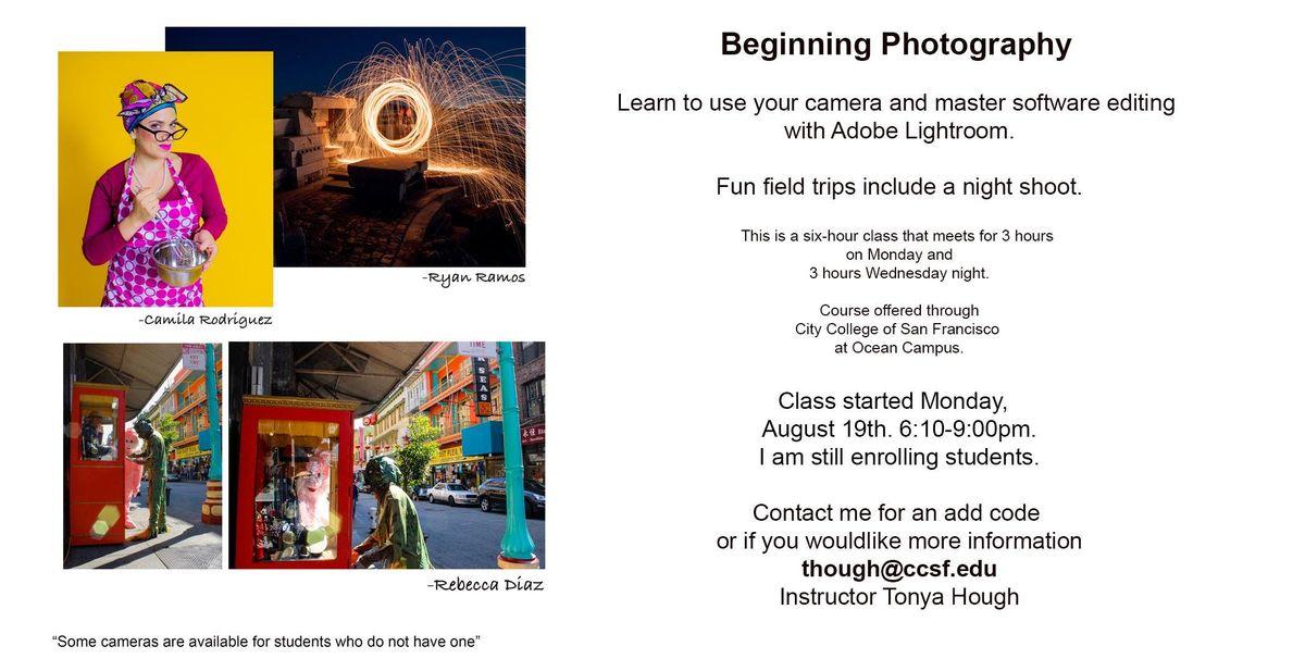 Beginning Photo Class starts now
