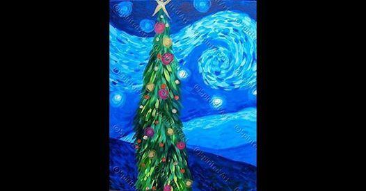 25 Christmas Mondays Starry Night Christmas Tree