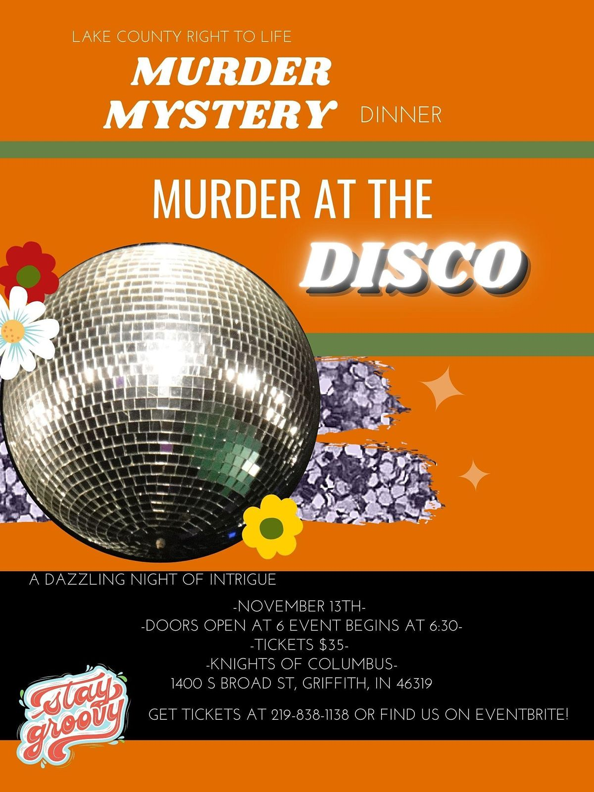 M**der Mystery Dinner- 70's, 13 November | Event in Griffith | AllEvents.in