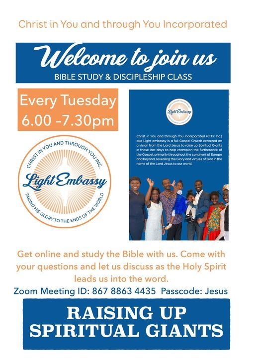 Bible Study and Discipleship class | Event in Lund | AllEvents.in