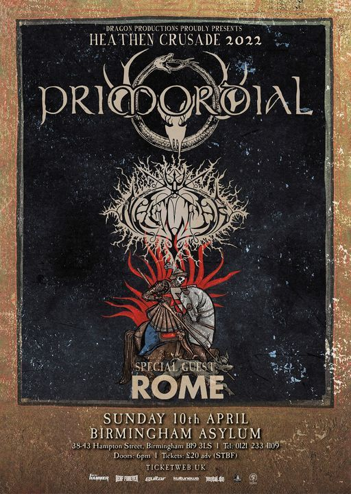 Primordial - Heathen Crusade III at The Asylum - Birmingham, 11 April | Event in Birmingham | AllEvents.in