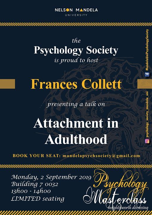 Attachment in Adulthood - Frances Collett at Nelson Mandela