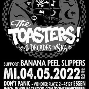 The Toasters  Banana Peel Slippers (Ska Two Tone Rocksteady)