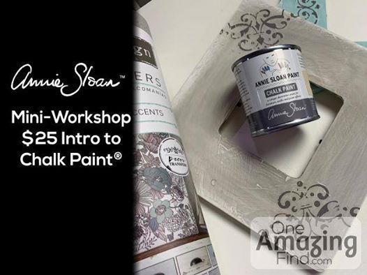 Mini Workshops 25 Intro To Chalk Paint And Transfers At