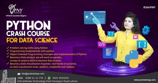 Python Crash Course for Data Science, 23 October   Event in Lahore   AllEvents.in