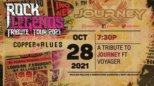 A TRIBUTE TO JOURNEY FT VOYAGER, 28 October | Event in Phoenix | AllEvents.in