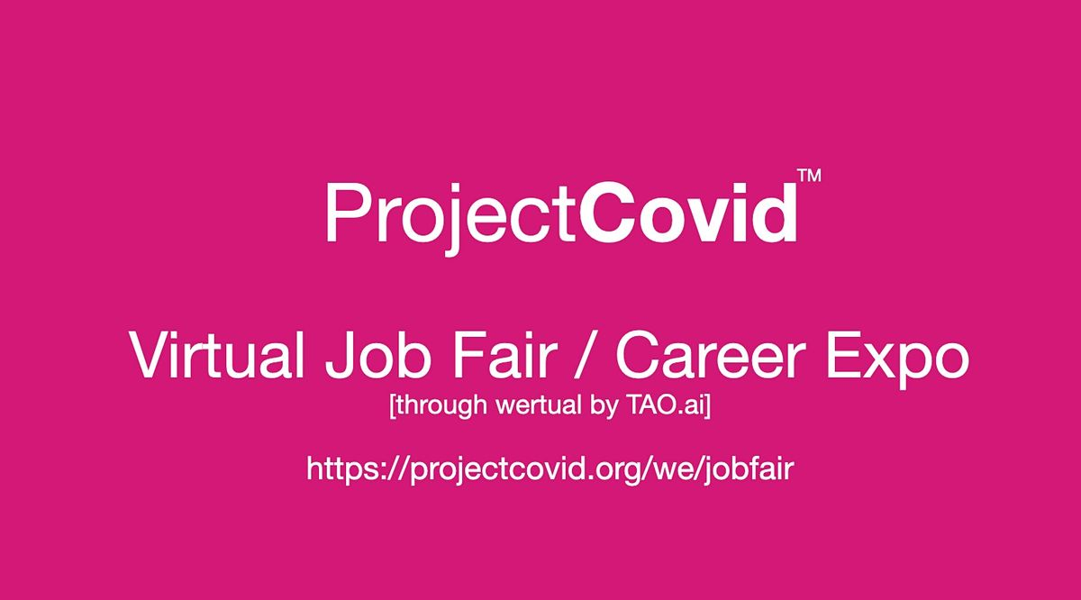 #ProjectCovid Virtual Job Fair / Career Expo Event #New York   Event in New York   AllEvents.in