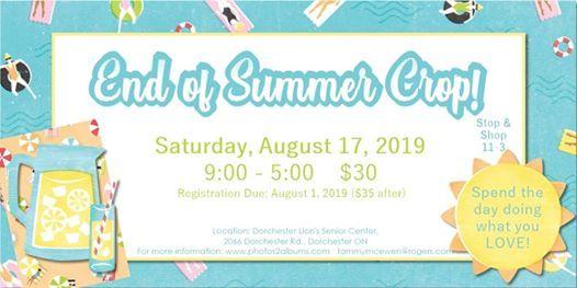 Crop Girls End of Summer Crop! at Lion's Senior Centre