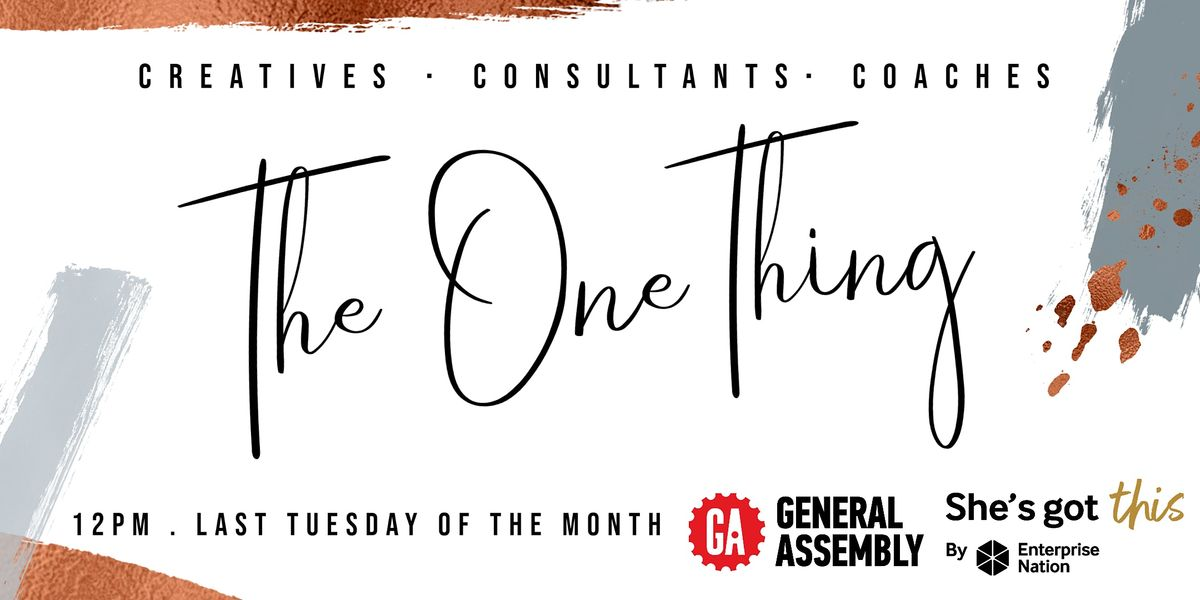 The One Thing, 23 February | Online Event | AllEvents.in