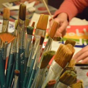 Atelier de pictat sacoe  LA SEDIU