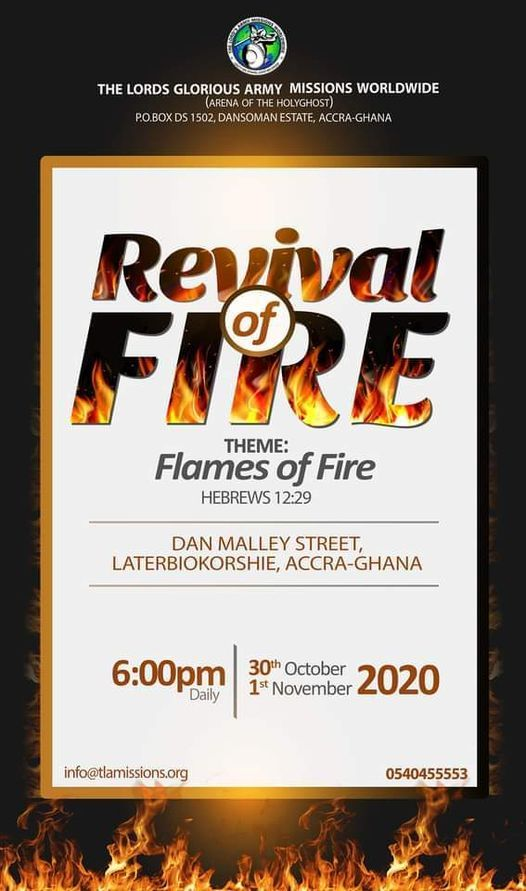 Revival of Fire, 30 October | Event in Accra | AllEvents.in
