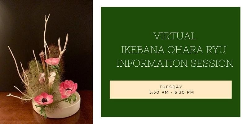 Virtual Ikebana Ohara Ryu Information Session and Student Art Show, 13 October   Online Event   AllEvents.in