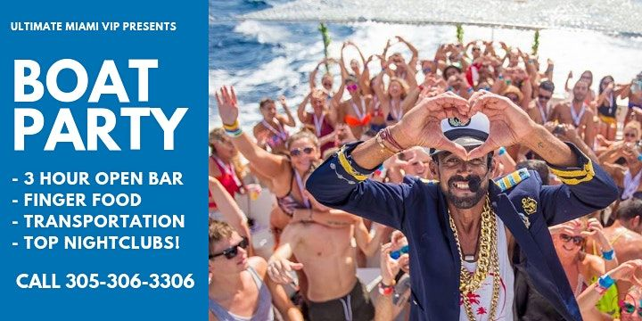Spring Break Big Boat Party w Open Bar  Jet Skis Island Hopping  Hip Hop & Party Music