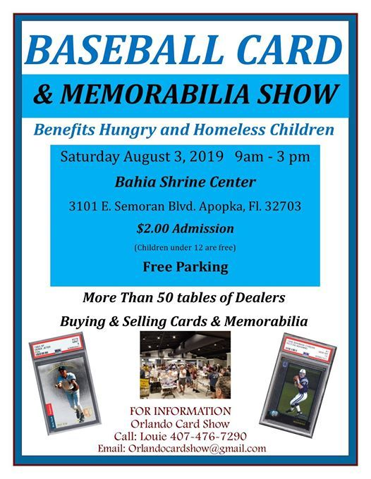 Baseball Card Memorabilia Show At Bahia Shriners Apopka