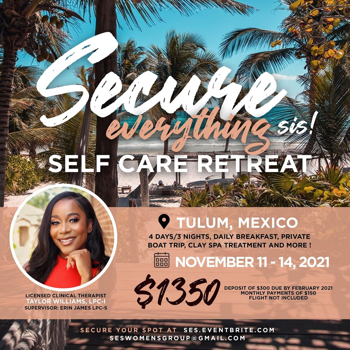 Secure Everything, Sis  Self-Care Retreat: Tulum Edition, 11 November | Event in Tulum | AllEvents.in