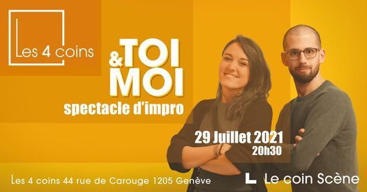 TOI & MOI - Spectacle d'impro, 29 July   Event in Geneva   AllEvents.in