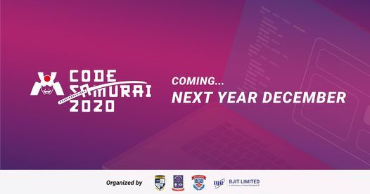 Code Samurai 2020, 17 December   Event in Mymensingh   AllEvents.in